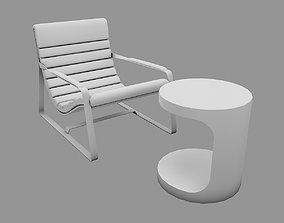 modern Armchair UP 3D model