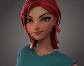 3D model Violet Ver 3 Cartoon Girl