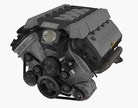 Ford Mustang 2015 Coyote engine 3D asset