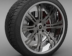 Savini Forged SV-27S Wheel and Tire 3D model