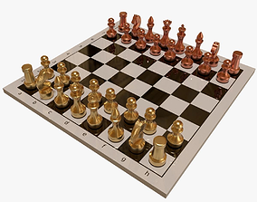 chessboard Chess Set 3D