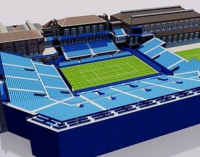 Queens Club Tennis Stadium - London 3D model realtime