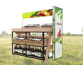 Wine shelf model 3D