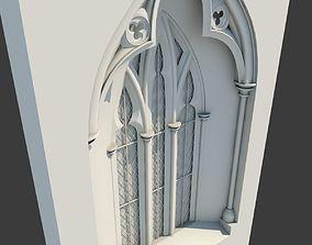 Medieval Gothic Window 03 3D