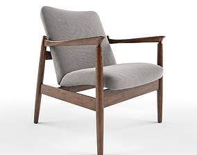 3D Vintage Armchair From Mid Century Designed By Edmund