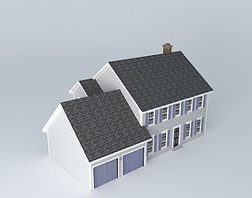 3D Colonial House