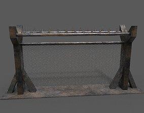 Metal Fence 3D asset realtime