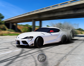 3D model realtime 2020 Toyota Supra GR