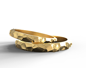 Wedding rings texture 3D print model 3D print model