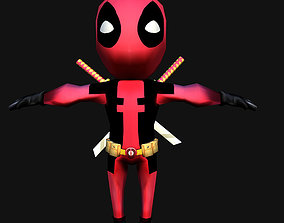 realtime DEADPOOL LOW-POLY 3D MODEL