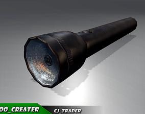 realtime PBR Flashlight Low-poly 3D model