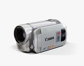 Canon FS400 Silver camcorder 3D asset
