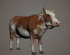 Cow Rigged 3D Model Hight Poly 3D Moodel rigged