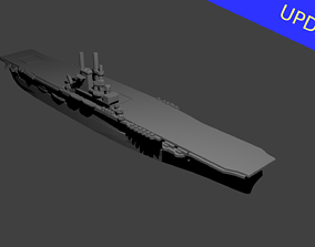 US Aircraft Carrier Wasp 3D print model