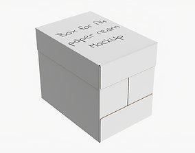3D model Office paper 5 reams box A4 02