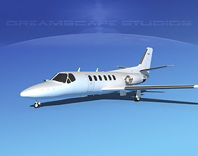 Cessna 550 Citation II White Livery 3D model