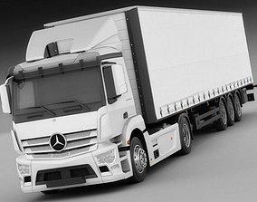 3D Mercedes Antos with trailer