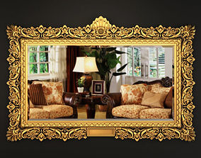 3D Richly Carved And Gilf Frame large size