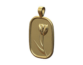 3D print model Flower relief pendant and charm