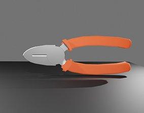 Cutting Pliers Tool Workshop - Ferramenta 3D asset 2