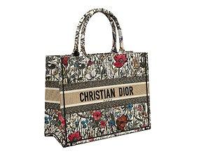 3D model Dior Bag Small Book Tote Multicolor Mille Fleurs