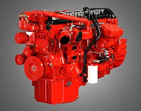 3D model X12 Heavy Duty Truck Engine - 6 Cylinder Diesel