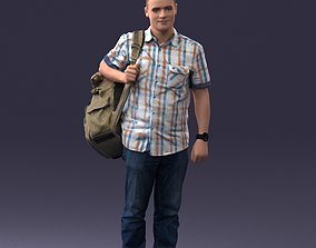 Man with bag 0824 3D model