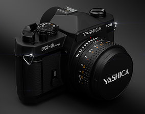 1984 Yashica FX3 Super 2000 Analog Camera 3D model
