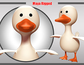 Duck Rigged 3D asset