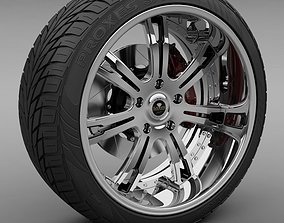 3D Savini Forged SV-24S Wheel and Tire