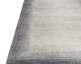 3D model Bamboo Corner Rug Charcoal and Blue by The Rug