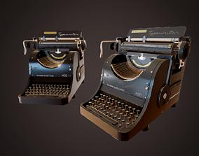 3D asset Realistic Vintage Typewriter