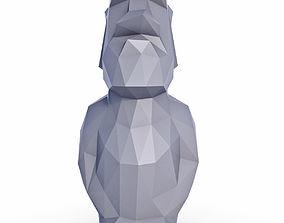 Moai Low Poly 3D model