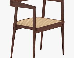 3D model Brown Armchair 1