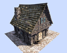 3D asset medieval style house