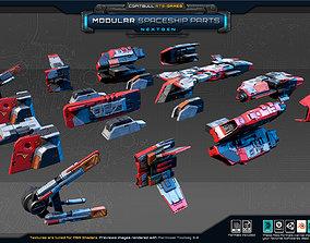 NextGEN - Modular Spaceship Parts 3D asset game-ready
