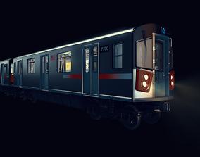 Subway car R142 3D model