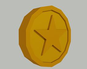3D asset Toon Coin