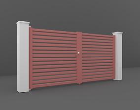 3D model enterence Outdoor Gate