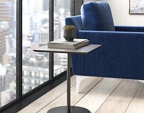 Noa Tray Top Pedestal End Table 3D