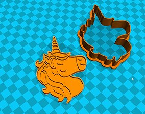 Stl file Unicorn cookie cutter for printing on 3D printer
