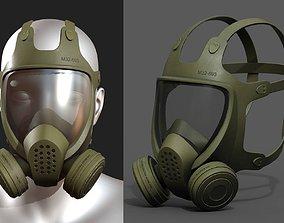 3D model Gas mask helmet scifi futuristic military combat