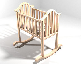 3D Rocking Baby Bed