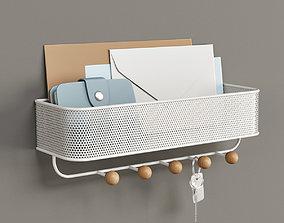 3D model Umbra Estique Wall Organizer in White