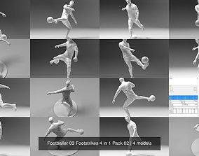 Footballer 03 Footstrikes 4 in 1 Pack 02 3D model