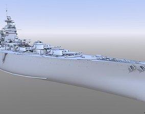3D model BATTLESHIP HMS RODNEY