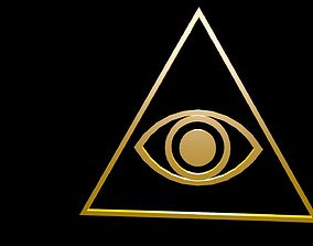 Low poly Eye in Triangle 3D model VR / AR ready