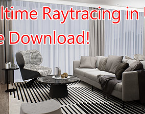 3D Free Download UE4 Realtime Interior Livingroom Ray