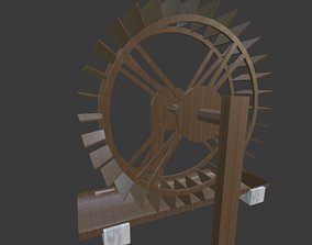 3D animated Watermill