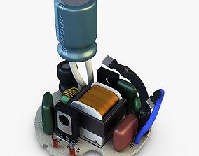 3D model Circuit board v 1